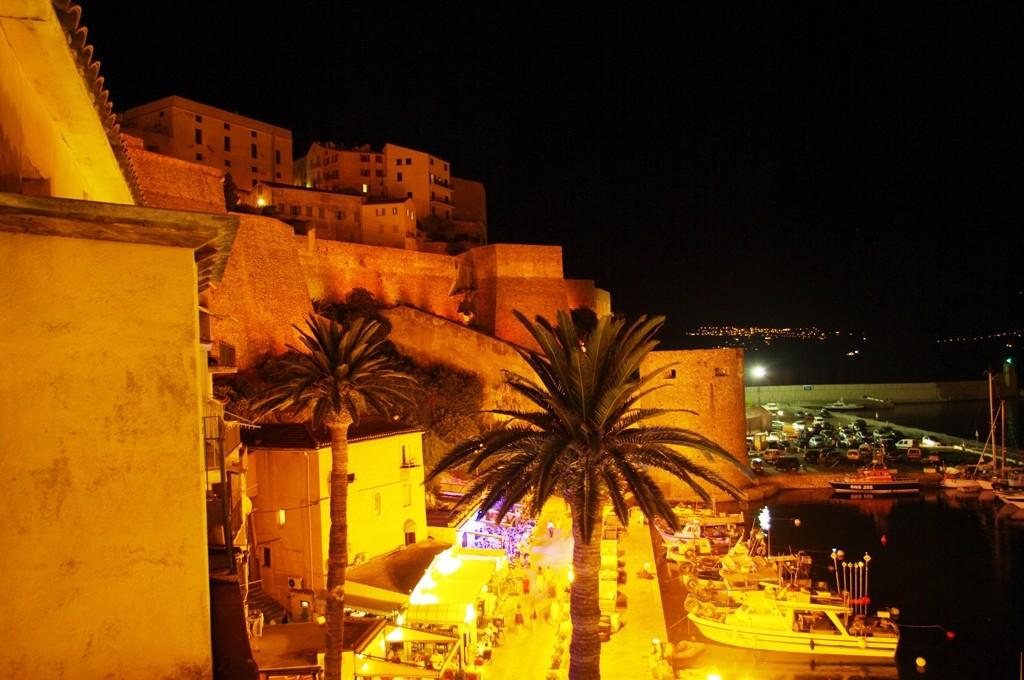 Et le soir, vue du balcon ...