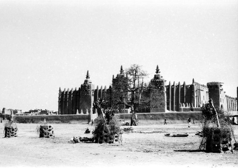 Mosquée de Djenné, vue de la façade