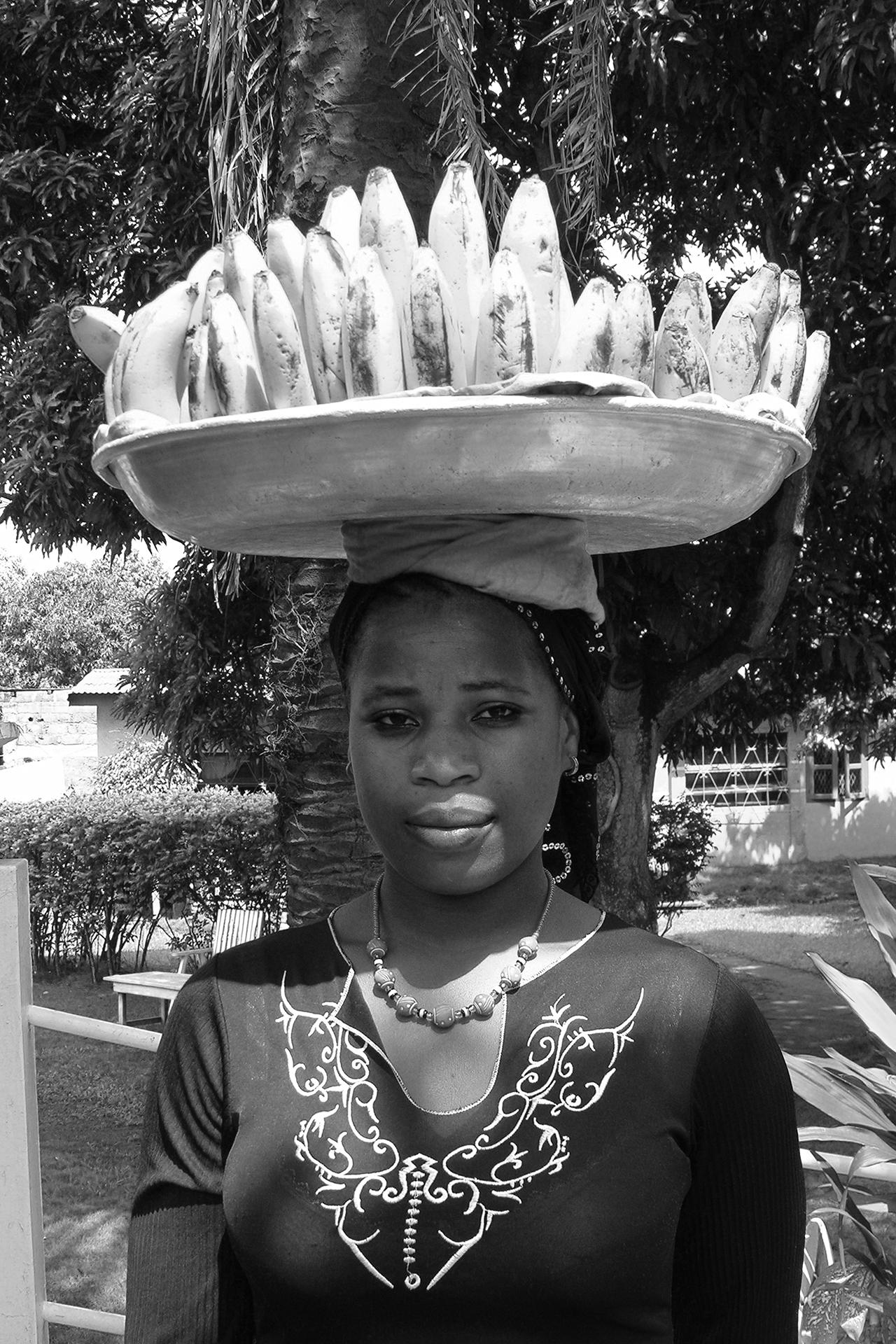 Transport de banane. 2007, ABENGOUROU, Côte d'Ivoire