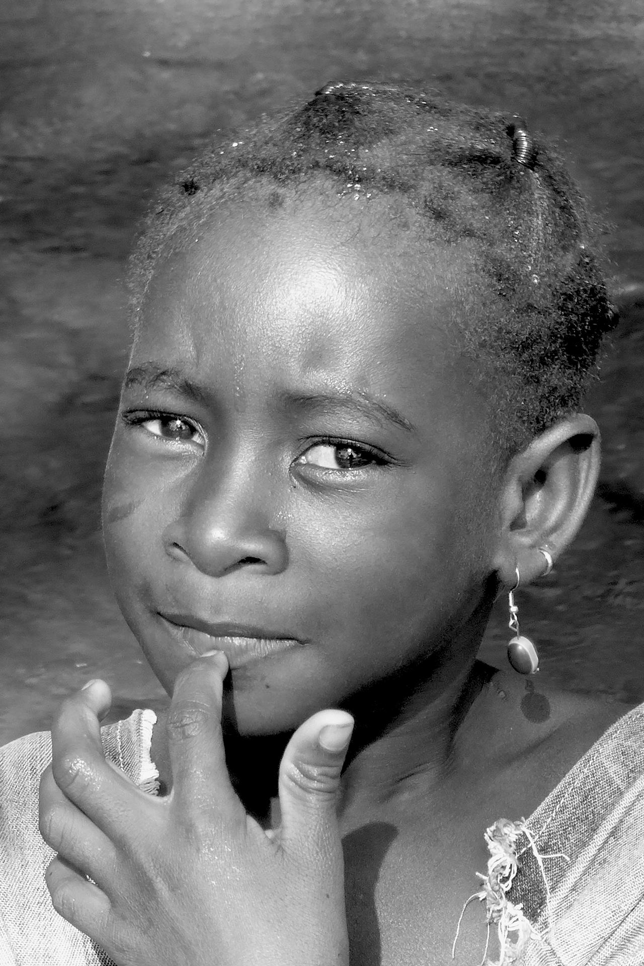 Sourire, gentil sourire 2. 2014, BANFOULGOUE, région de BOBO DIOULASSO, Burkina Faso