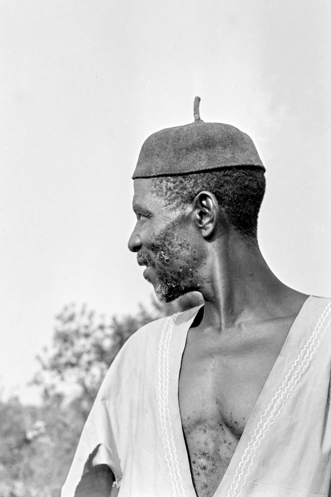 Paysan des bords du Niger 2. 1970, MOPTI, Mali