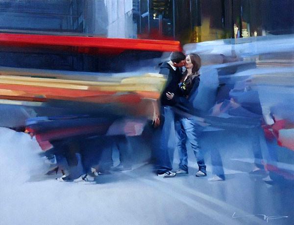 Картина художника Алексея Чернигина  Поцелуй