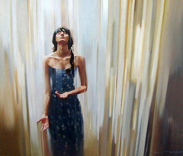 Картина художника Алексея Чернигина Ливень
