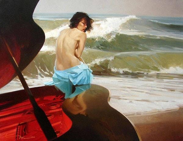 Картина художника Алексея Чернигина  На линии прилива