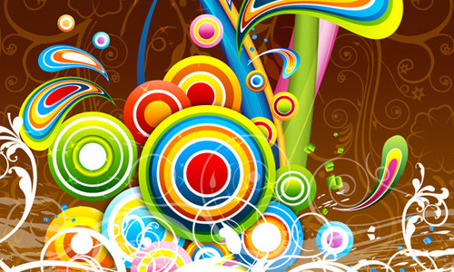 Vector Colorful Bubbly Background