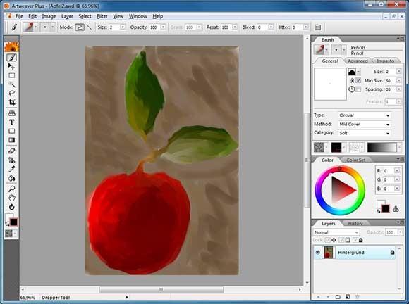 Artweaver - редактор для художников