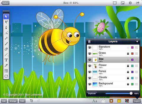 Профессиональное приложение для векторных иллюстраций - Inkpad