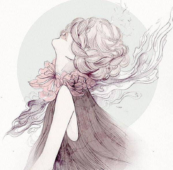девушки с распущенными волосами