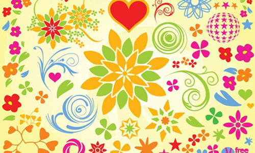 Векторные цветочные элементы