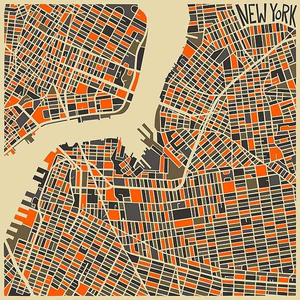 карта Нью Йорка