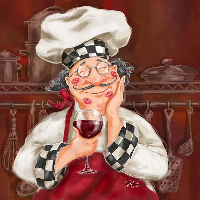 Рисунок веселый повар