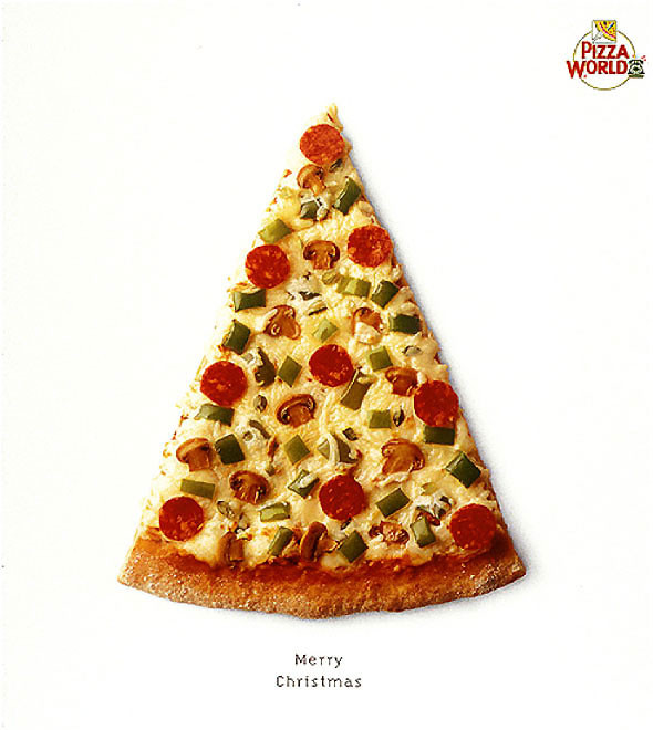 Поздравления, идеи интересных открыток на нг с пиццей