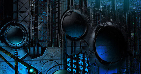 иллюстрация города будущего