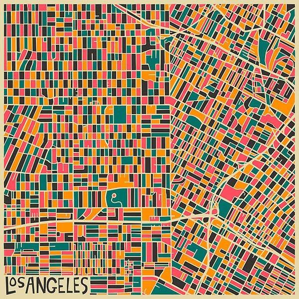 карта Лос Анжелеса