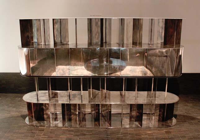 Зеркальный стеллаж