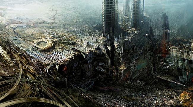 компьютерная графика городов будущего