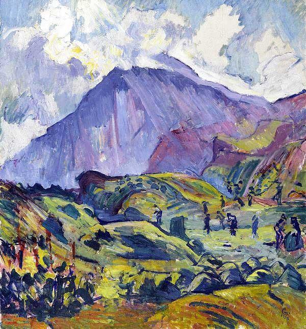 Сенокос вблизи Maлоя 1923