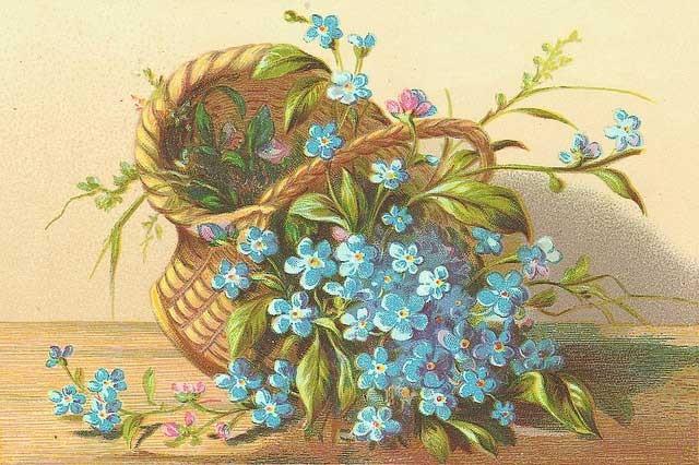 Советские открытки цветы в корзине фото поможет