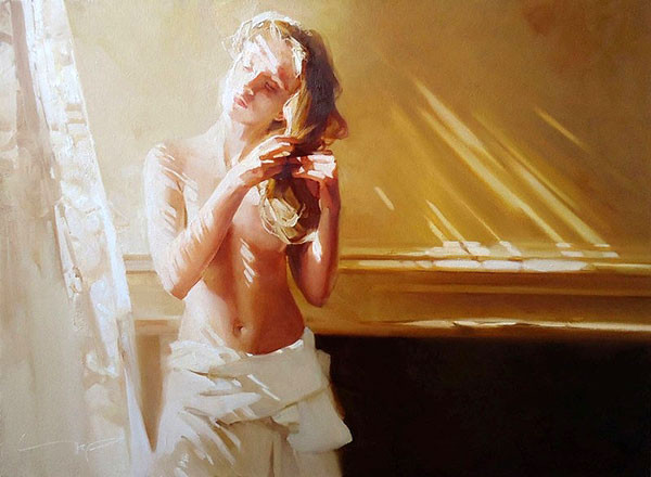Картина художника Алексея Чернигина Майское утро
