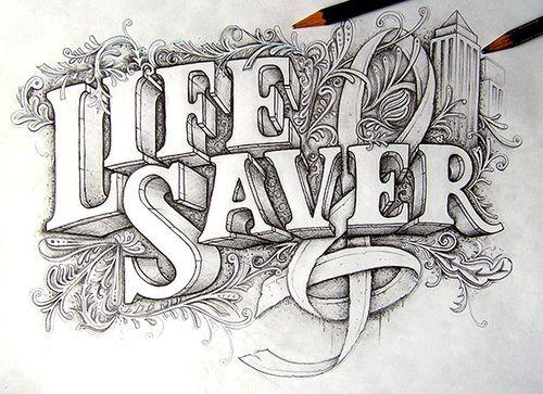 Типографика Life Saver