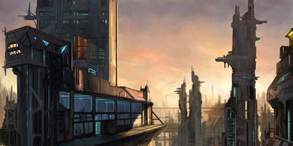 фантастический город
