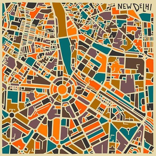 карта Нью Дели