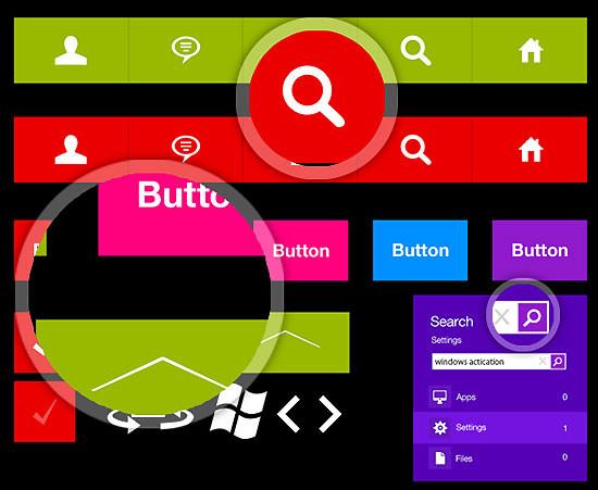 100 +  Metro Style Icon и приложения с графическим интерфейсом