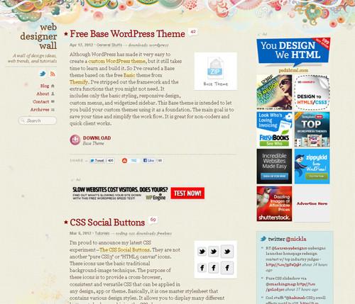 социальные кнопки, WordPress темы
