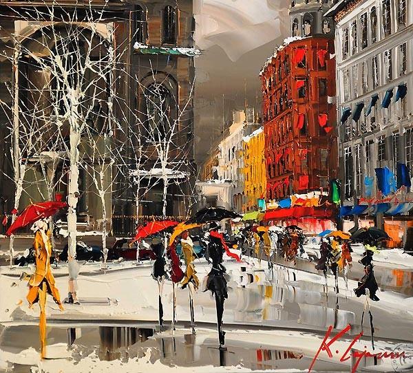 Городские картины париж