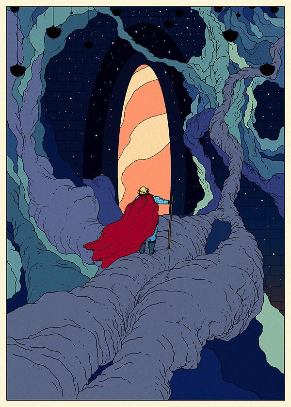 Векторные миры художника Kilian Eng
