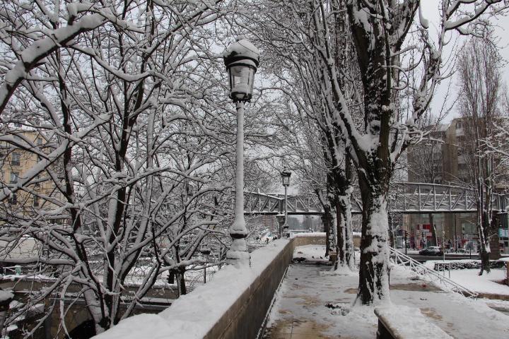 Jaurès sous la neige