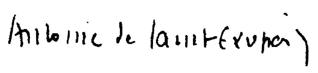 Signature de Saint Exupéry