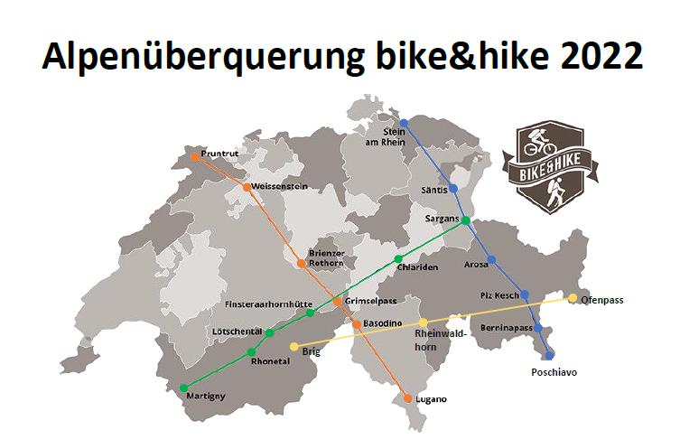 Alpenüberquerung bike&hike 2022