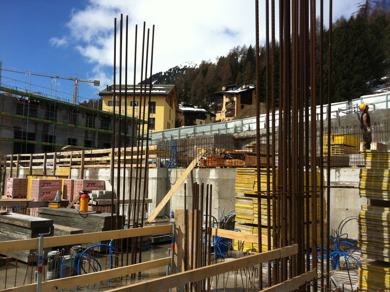Baustelle April 2013