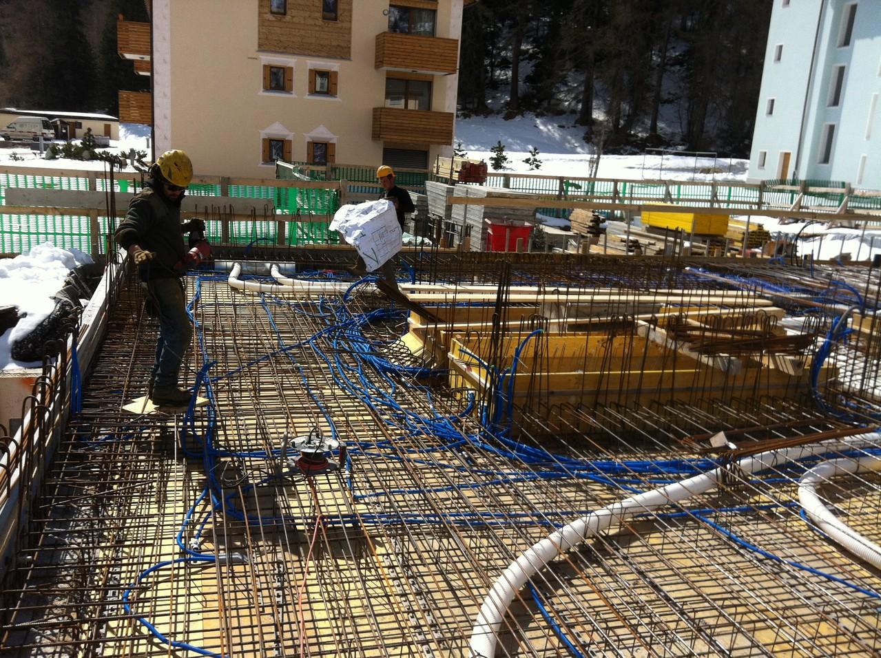 Baustelle April 2013