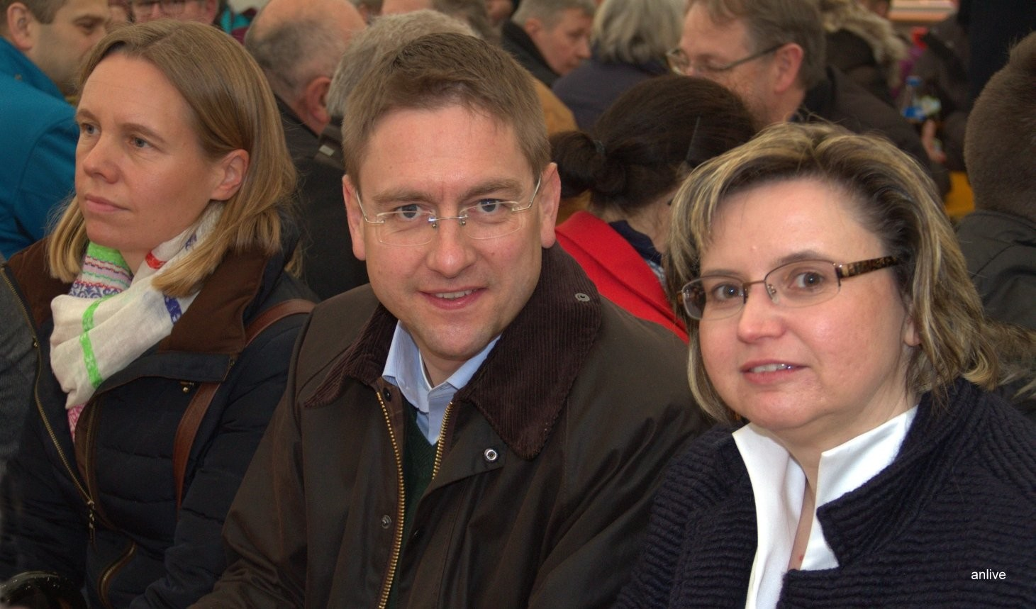 Frau Karin Ludwig, Dr, Jürgen Ludwig, Landrat, Frau Renate Hans, Bürgermeisterin, Lehrberg