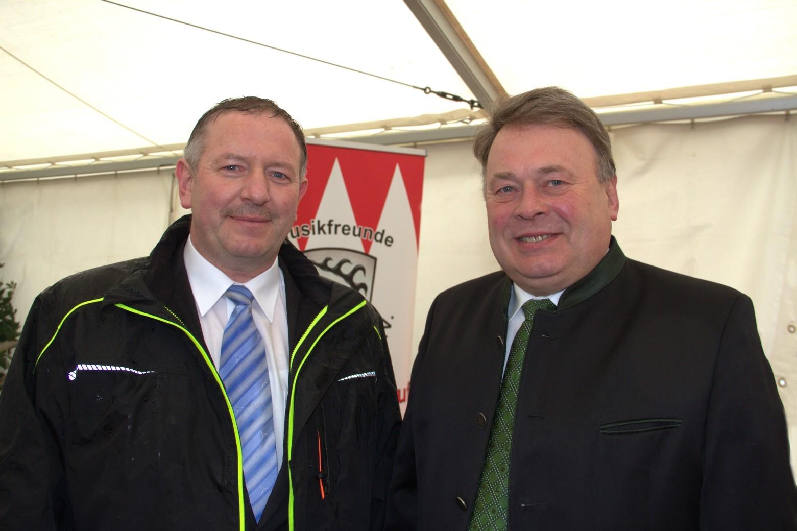Reinhold Zeilinger, Helmut Brunner, Landwirtschaftsminister