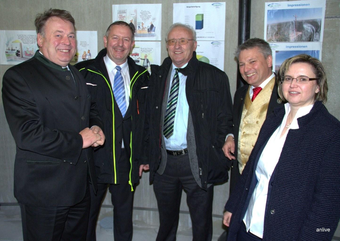 Helmut Brunner, Reinhold Zeilinger, Jürgen Ströbel, Hans Henninger, Renate Hans