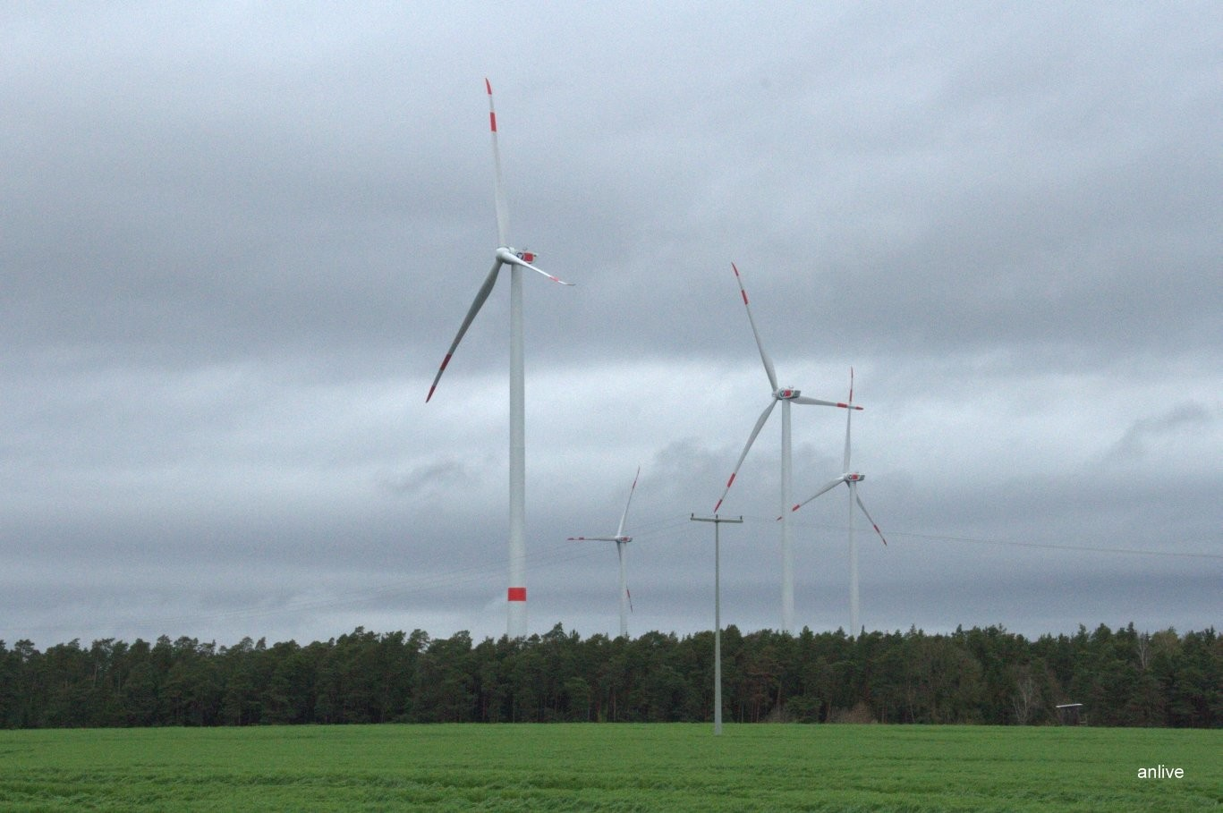 Die vier Windräder bei Birkenfels