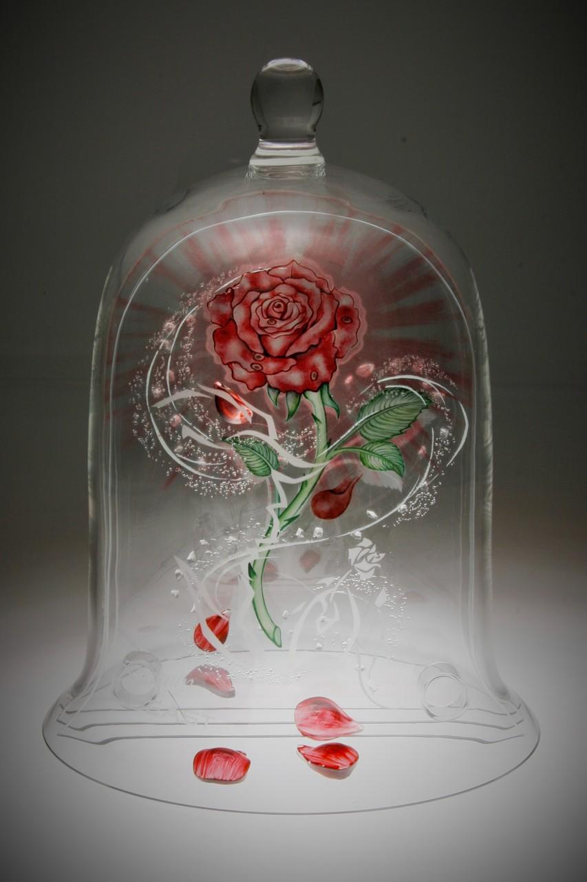 Rose in Glass - Beauty and the Beast Gesellenstück Jennifer Sieber