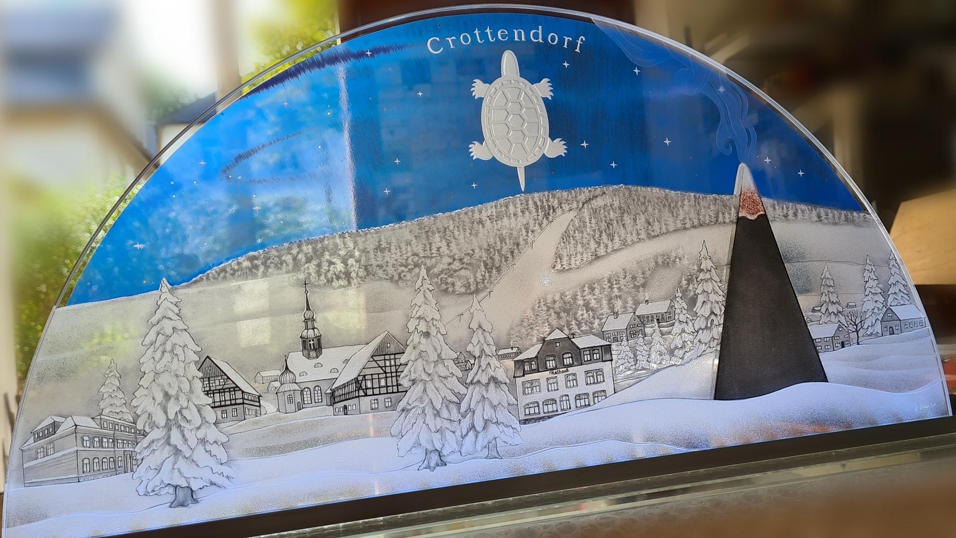 Crottendorf mit Wappentier