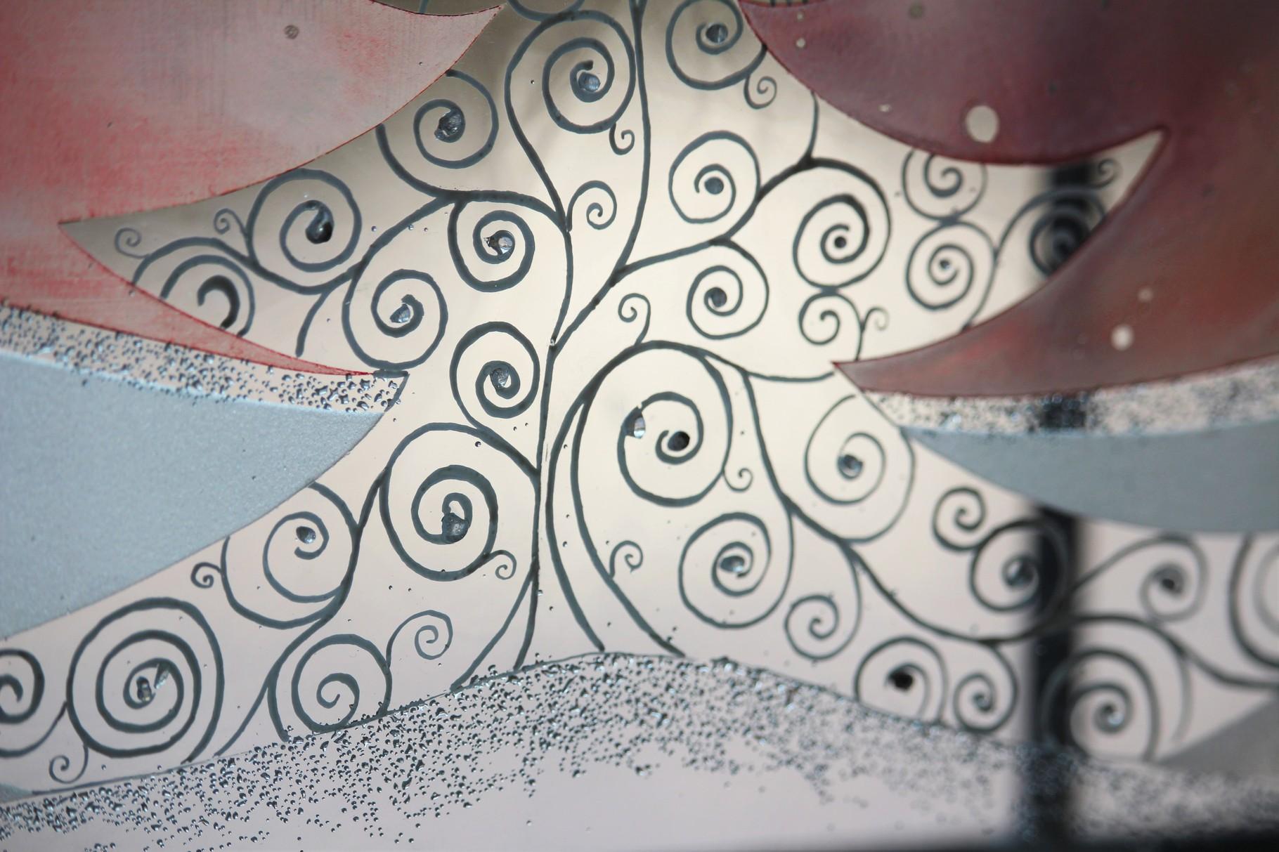 Detailansicht, einzeln gesetzte Glassteinchen