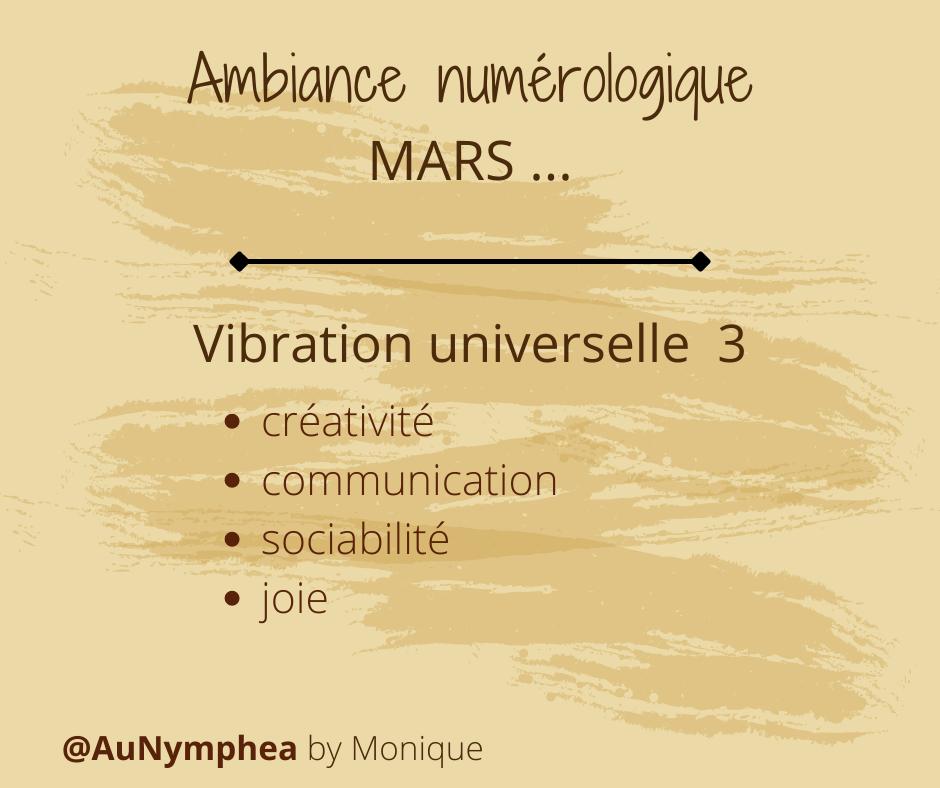 Ambiance numérologique Mars 2021