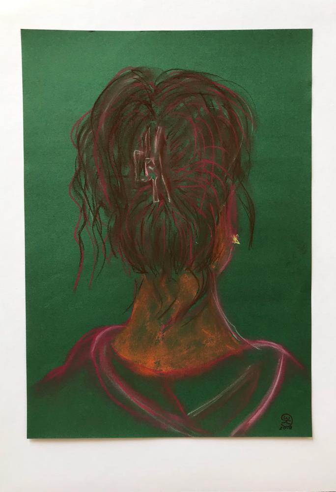 OT , Pastel on paper/ 48 x 32 cm / 2019 / 40