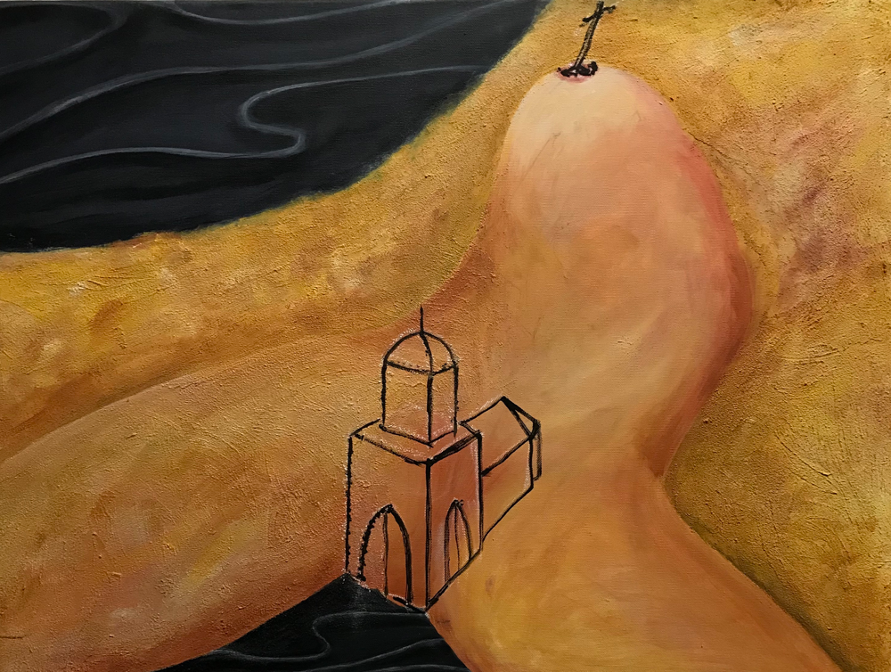 Modified reloaded of L.C.A the origin of the world by dabljuke, Acrylic on canvas / 60 x 80 cm