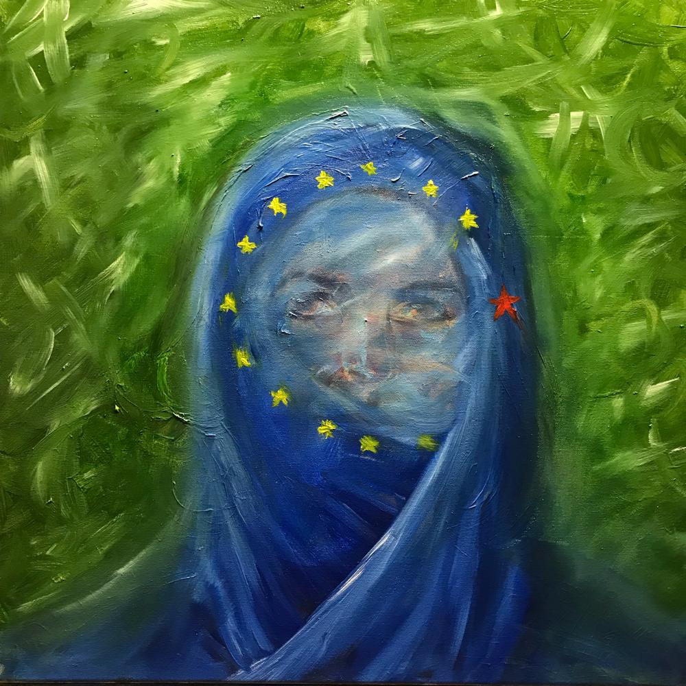 Integration I , Oil on canvas / 60 x 60 cm
