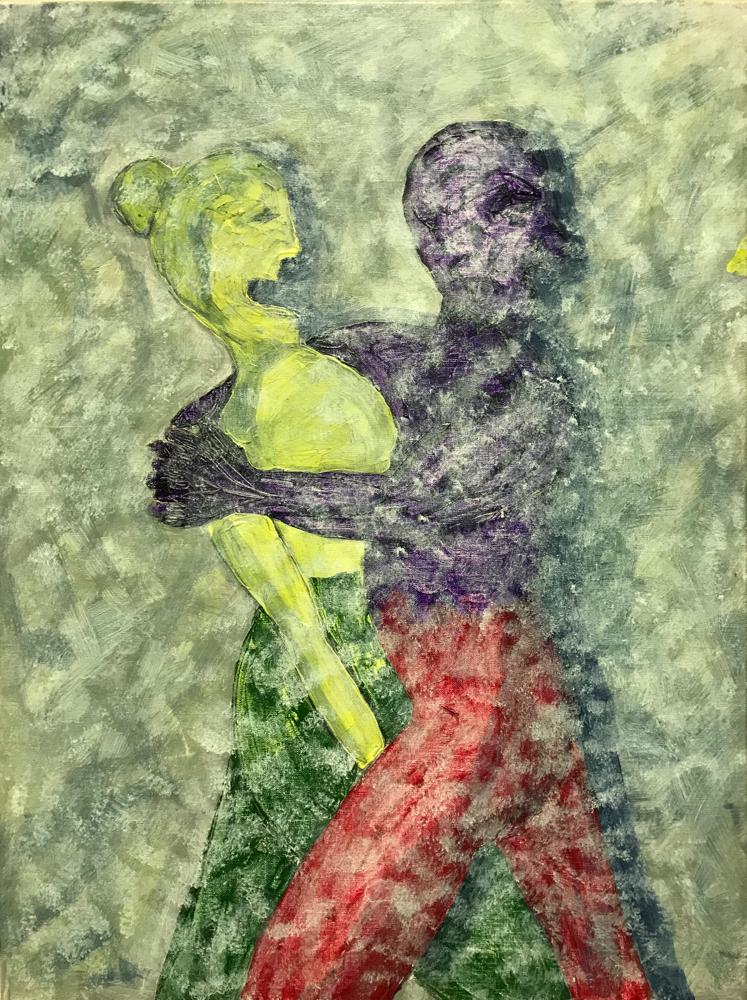 Attraction, Aversion, Acrylic on canvas / 80 x 60 cm