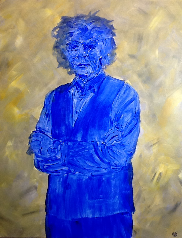 The artist himself, Acrylic on canvas / 90 x 70 cm