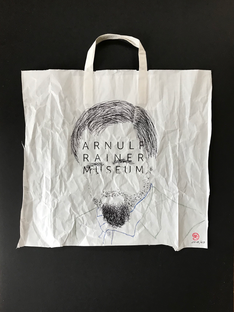 Arnulf R. M  I, Ink on paper / 70 x 50 cm
