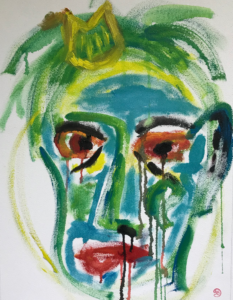 Brexit , Oil on canvas / 56 x 42 cm / 2018 / 123